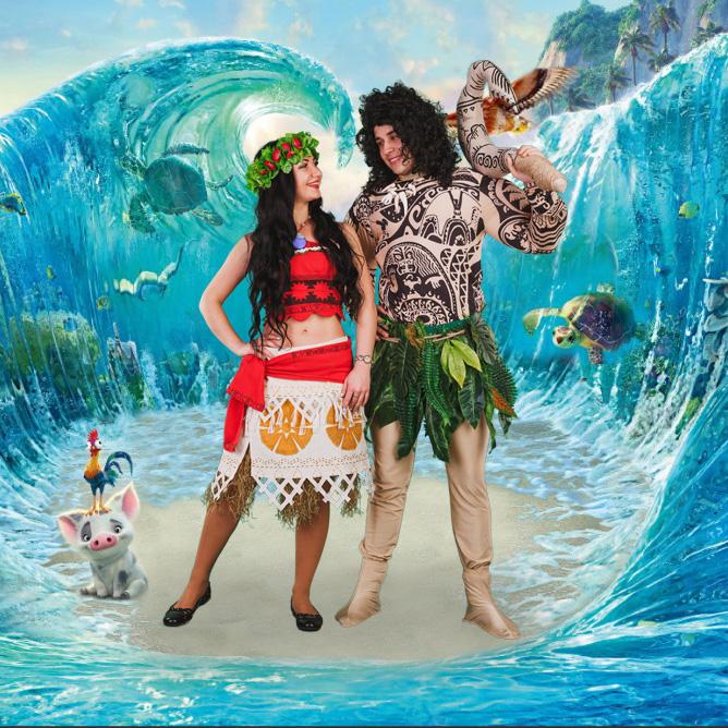 Аниматоры Моана и Мауи